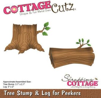 CottageCutz Tree Stump and Log for Peekers Die