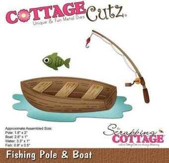 CottageCutz Fishing Pole and Boat Die