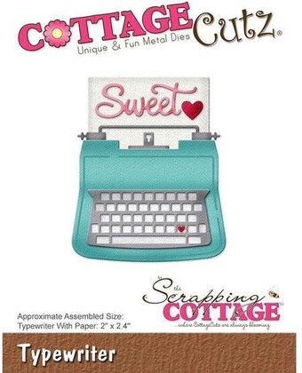 CottageCutz Typewriter Die