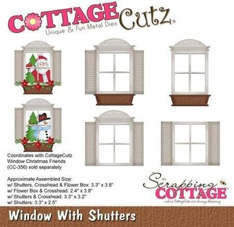 CottageCutz Window With Shutters Die