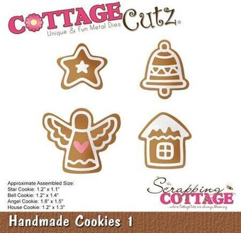 Handmade Cookies - CottageCutz Christmas Craft Die