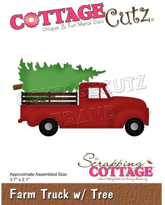 Farm Truck With Christmas Tree Cottagecutz Craft Die Sc Cc 677 123stitch