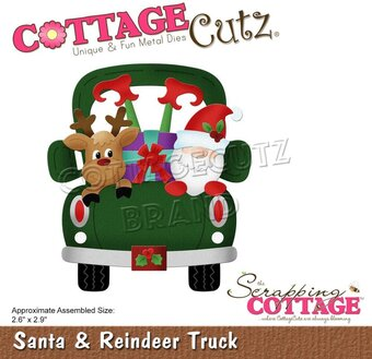 Santa and Reindeer Truck - Christmas Craft Die