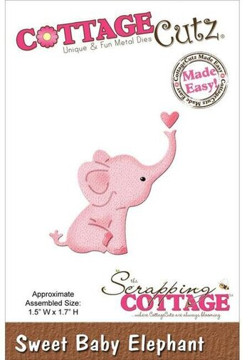 CottageCutz Sweet Baby Elephant Mini Die