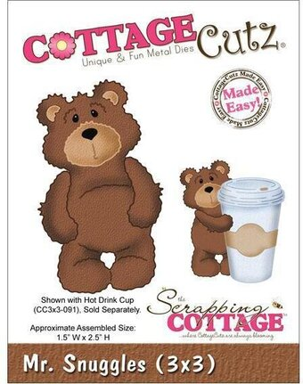 CottageCutz Mr. Snuggles Teddy Bear Die