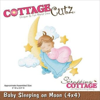 CottageCutz Baby Sleeping On Moon Die