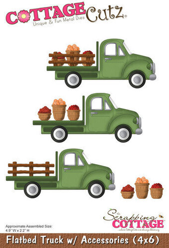 CottageCutz Flatbed Truck with Accessories Die