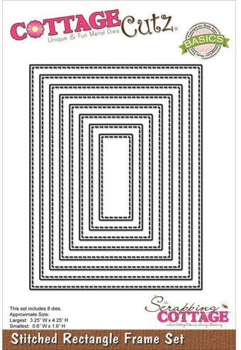 CottageCutz Stitched Rectangle Frame Set Die