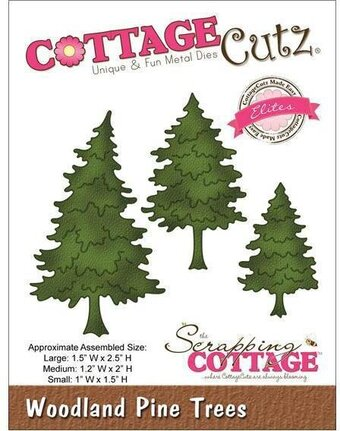 CottageCutz Woodland Pine Trees Elites Die