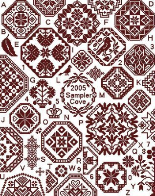free home sampler cross stitch pattern