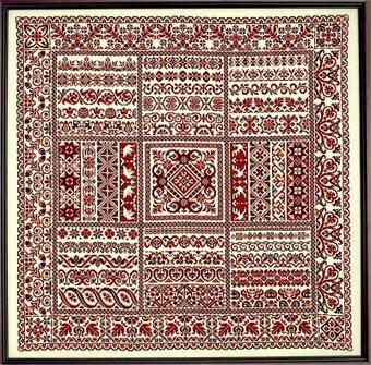 Sampler Cove Rhapsody In Red Ribbon Sampler Cross Stitch Pattern Cool Stitch Patterns