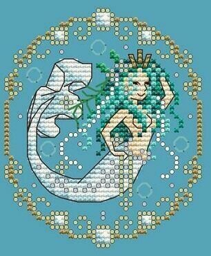April - Treasures of the Deep - Cross Stitch Pattern
