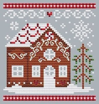 Gingerbread House 1  - Cross Stitch Pattern