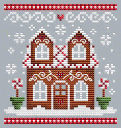 Gingerbread House 2  - Cross Stitch Pattern
