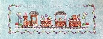 Gingerbread Train - Cross Stitch Pattern