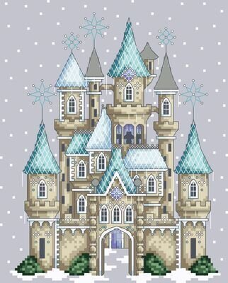 Ice Castle - Cross Stitch Pattern