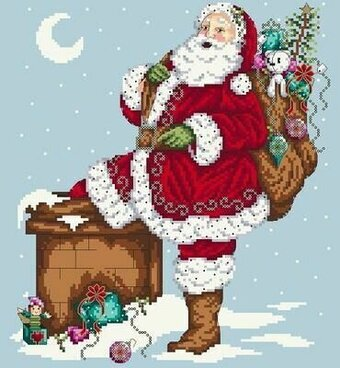 Jolly Santa - Cross Stitch Pattern