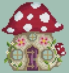 Mushroom House - Cross Stitch Pattern