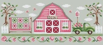 Pink Barn - Cross Stitch Pattern