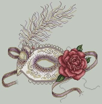 Venetian Mask - Cross Stitch Pattern