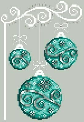 Wintery Teals - Cross Stitch Pattern