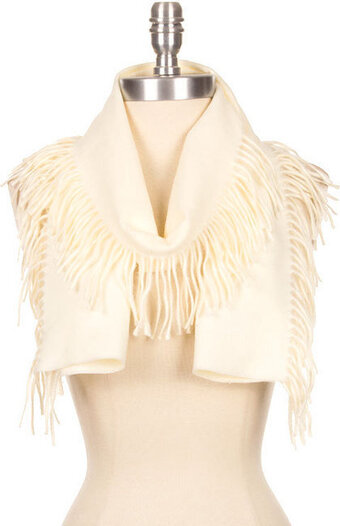 Super Soft Fringed Edge Scarf - Ivory