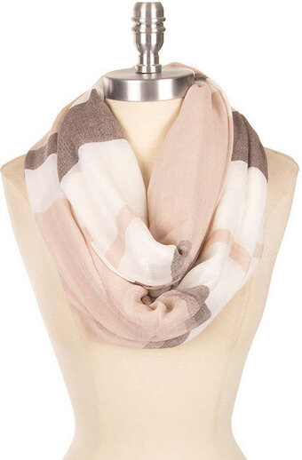 Stylish Stripe Print Scarf - Blue