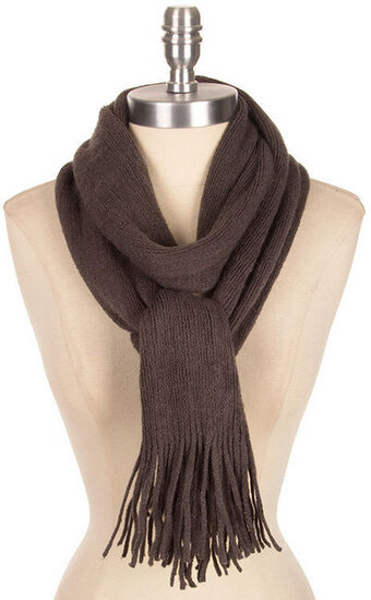 Wide Soft Classic Style Scarf - Gray