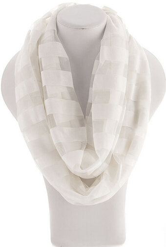 Infinity Stripes Scarf - White