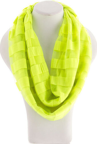 Infinity Stripes Scarf - Yellow