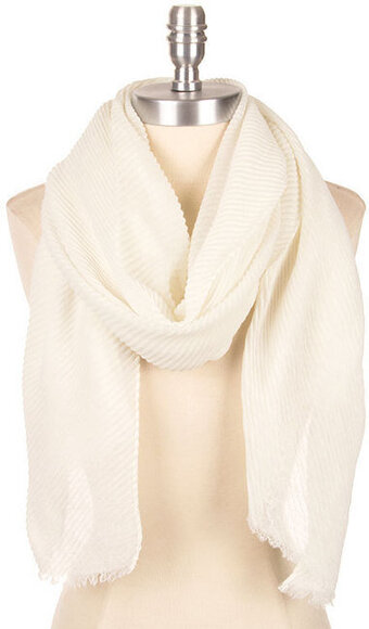 Super Soft Crinkled Scarf - Ivory