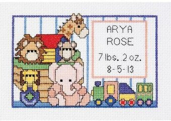 Noah's Ark Birth Sampler Mini - Cross Stitch Kit