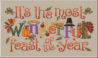 The Most Wonderful Feast - Cross Stitch Pattern