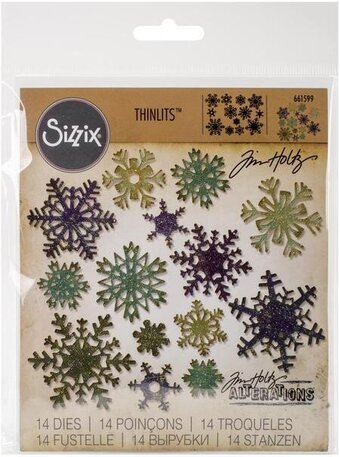 Tim Holtz Thinlits Dies - Mini Paper Snowflakes