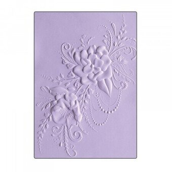 Sizzix 3-D Embossing Folder - Flower Heart Doodle