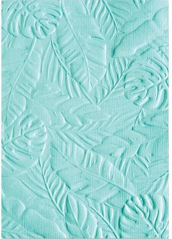 Tropical Leaves - 3D Textured Impressions Embossing Folder