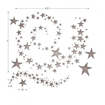 Swirling Stars - Sizzix Tim Holtz Thinlits Die
