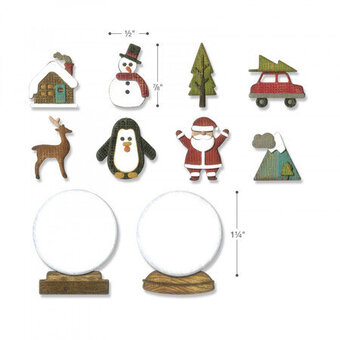 Tim Holtz Thinlits Christmas Craft Die - Tiny Snowglobes