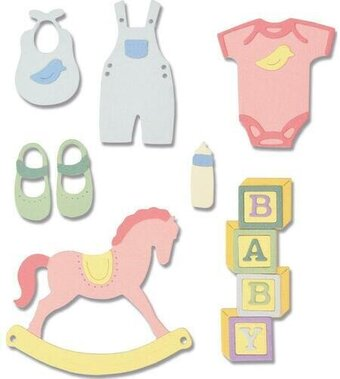 Sizzix Thinlits Die - New Baby 2