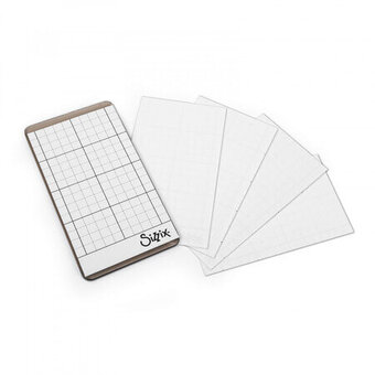 "Sizzix Sticky Grid Sheets 2 1/2"" x 4 1/2"" - 5 Pack"