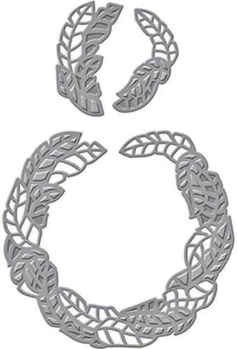 Shapeabilities Palm Leaf Wreath Etched Dies
