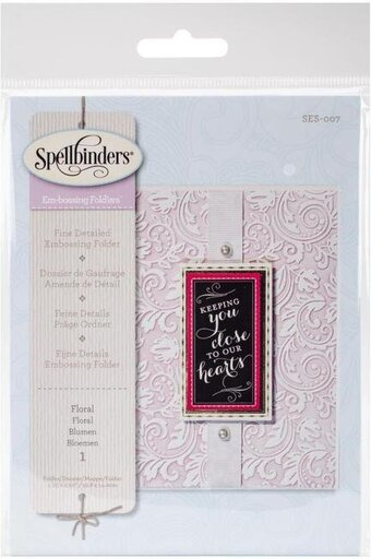 Em-bossing Fold'ers Floral 4.25 x 5.5 in Single Sided