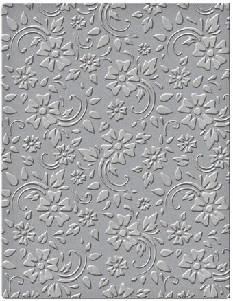 Em-bossing Fold'ers Flowers and Leaves 4.25X5.5 Folder