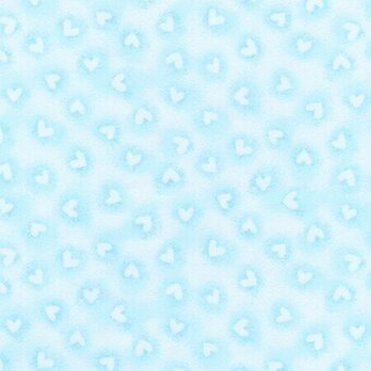 Blue Heart Flannel Fabric - Fat Quarter