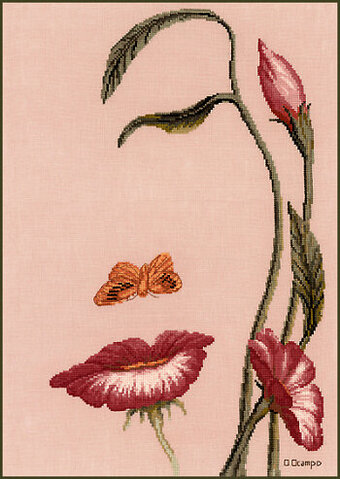 Stitching Studio Mouth Of The Flower Cross Stitch Pattern Extraordinary Cross Stitch Flower Patterns