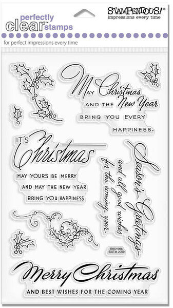 Stampendous Christmas Wishes - Perfectly Clear Stamp SSC1068 ...
