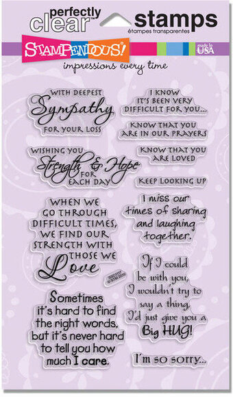 Encouraging Words Stampendous Perfectly Clear Stamp