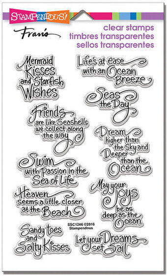 Stampendous Ocean Wisdom Perfectly Clear Stamps Ssc1246