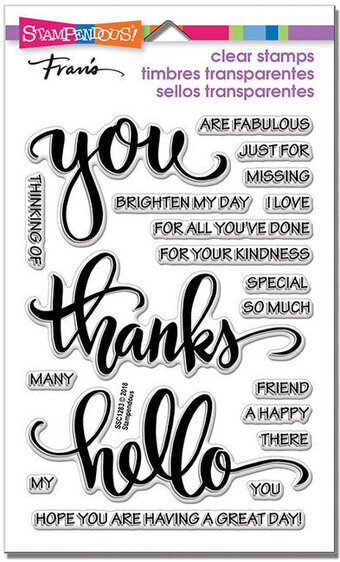 Big Words Thanks Perfectly Clear Stamps