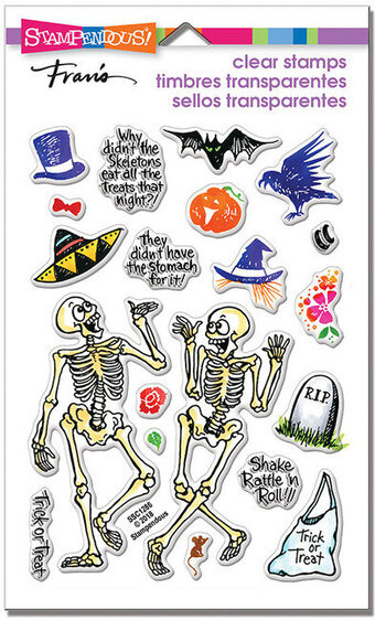 Skeleton Humor Perfectly Clear Halloween Stamps
